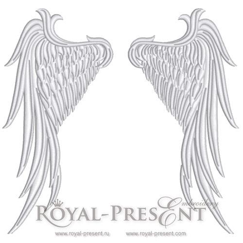 Дизайн машинной вышивки Крылья Ангела
