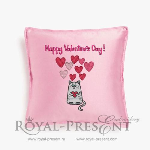 Дизайн машинной вышивки День Святого Валентина