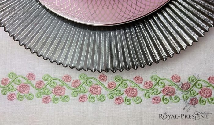 Дизайн машинной вышивки Нежные розы
