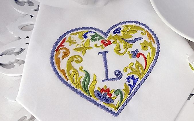 Дизайны машинной вышивки Сердце