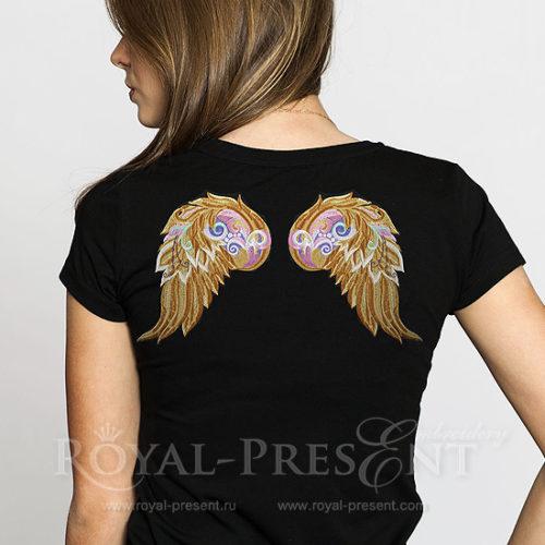 Дизайн Машинной Вышивки Декоративные крылья ангела