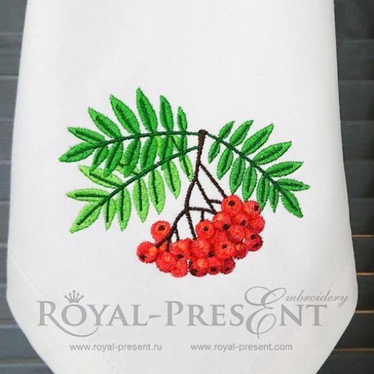 Дизайн машинной вышивки Рябина