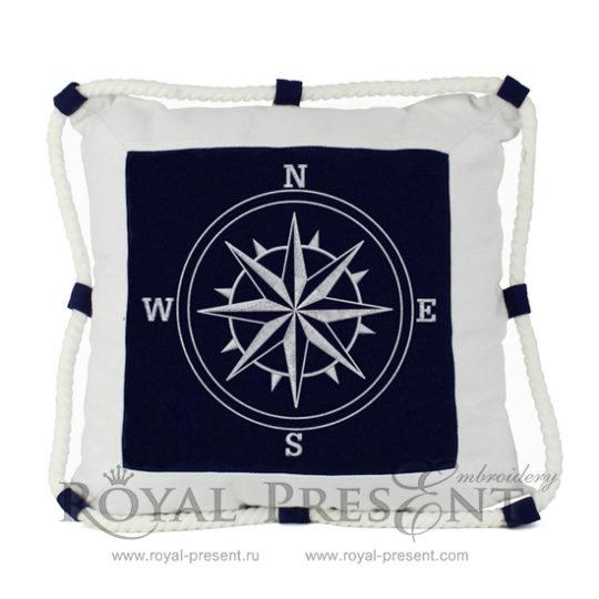 Дизайн машинной вышивки Роза ветров