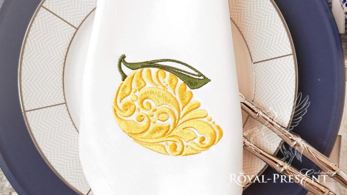 Орнаментальный Дизайн машинной вышивки Манго