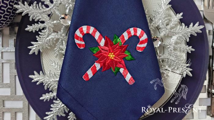 Рождественские леденцы Дизайн машинной вышивки