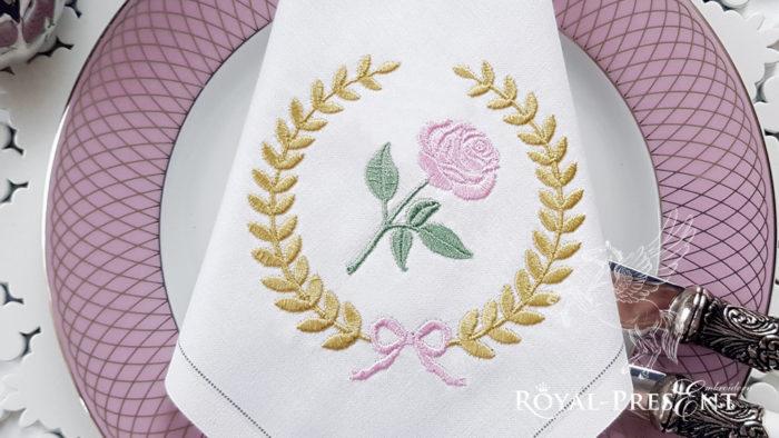 Дизайн машинной вышивки бесплатно Классическая роза