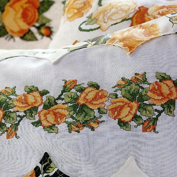 Букетик роз Дизайн машинной вышивки крестом