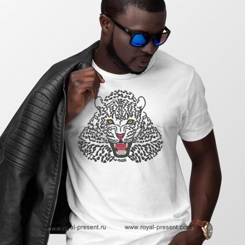 Дизайн машинной вышивки Снежный Леопард