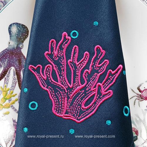 Дизайн машинной вышивки Кораллы