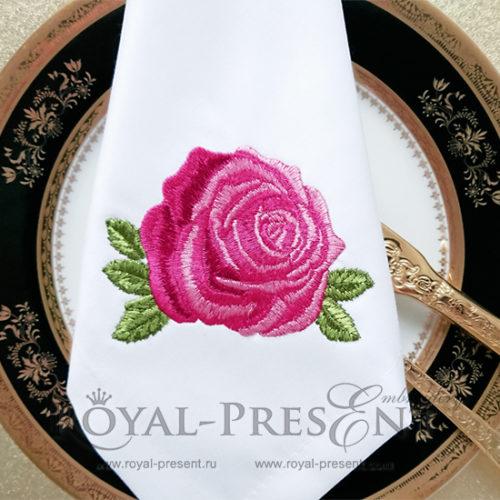 Роза Дизайн машинной вышивки
