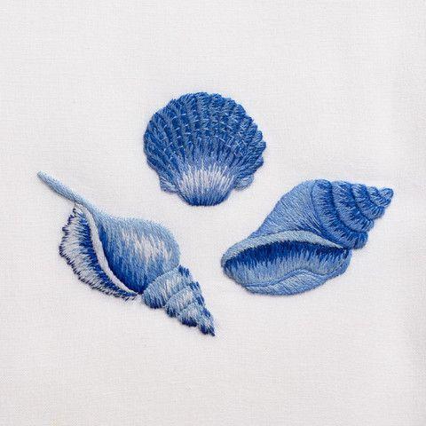 Дизайны машинной вышивки Три ракушки