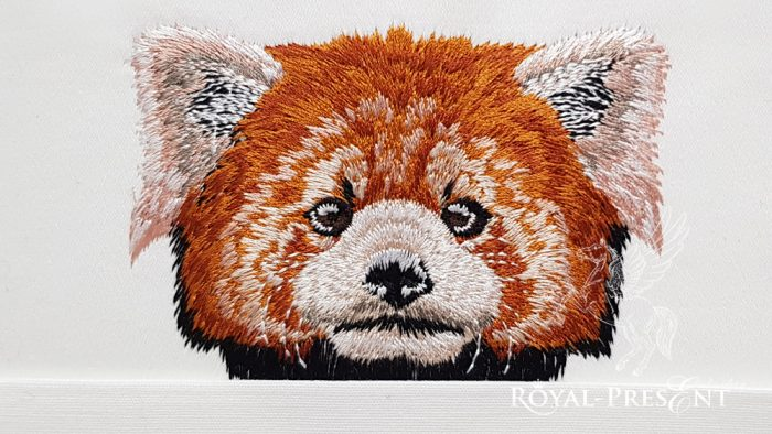 Дизайн машинной вышивки Карманная красная Панда