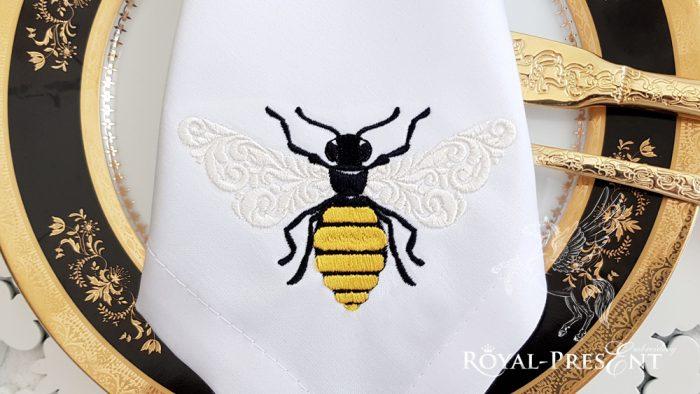 Дизайн машинной вышивки Орнаментальная Пчела