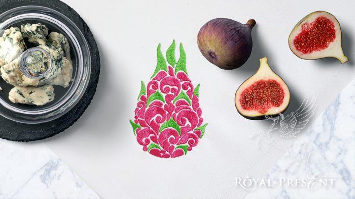 Орнаментальный Дизайн машинной вышивки Питайя