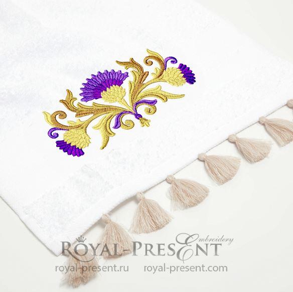 Узор для машинной вышивки Золотые Чертополохи