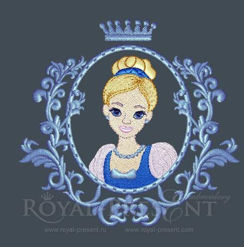 Дизайн машинной вышивки Принцесса Золушка