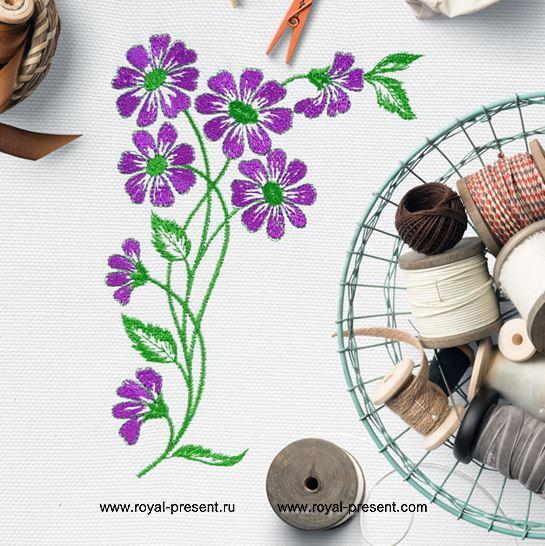 Дизайн машинной вышивки Полевые цветы