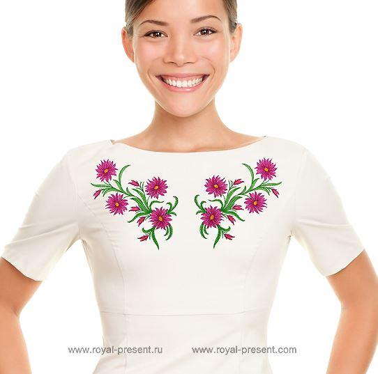 Дизайн для машинной вышивки Садовые цветы