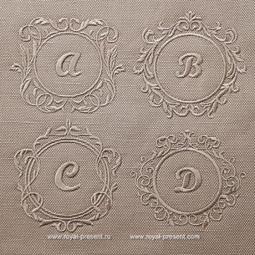 Набор дизайнов машинной вышивки Рамки для монограмм