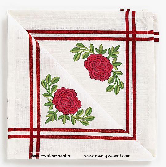 Дизайн для машинной вышивки бесплатно Роза