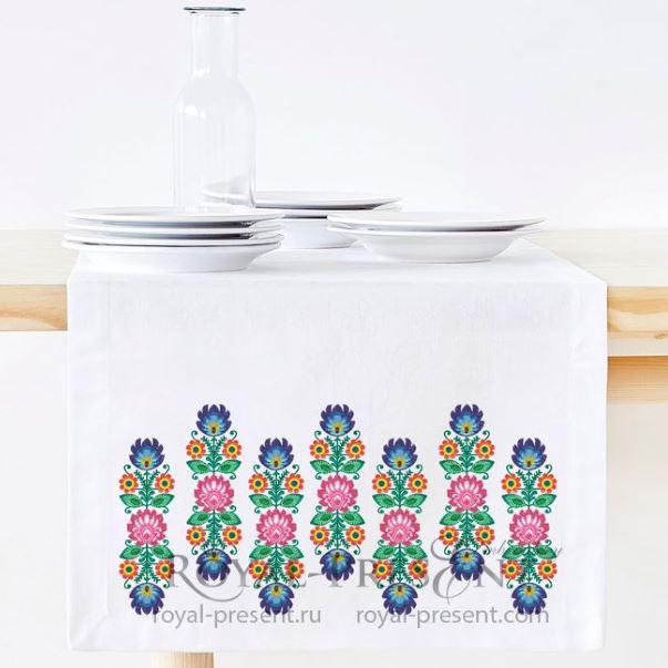 Дизайн машинной вышивки Польский вертикальный бордюр