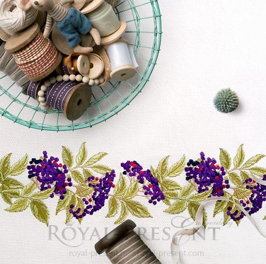 Дизайн машинной вышивки Бузина бордюр