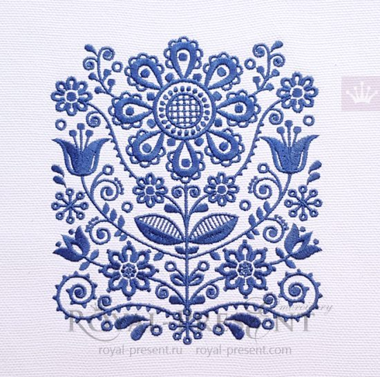 Дизайн машинной вышивки Скандинавский орнамент