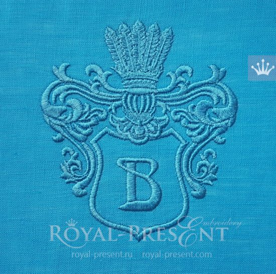 Дизайн машинной вышивки Рыцарская рамка для монограммы