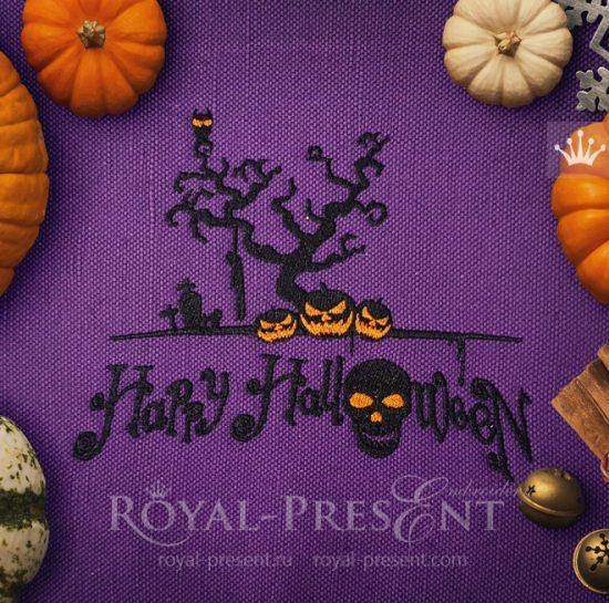 Дизайн машинной вышивки для Хэллоуина