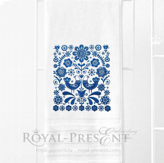 Скандинавский орнамент Дизайн машинной вышивки