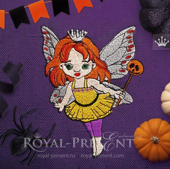 Дизайн машинной вышивки Фея Хэллоуина