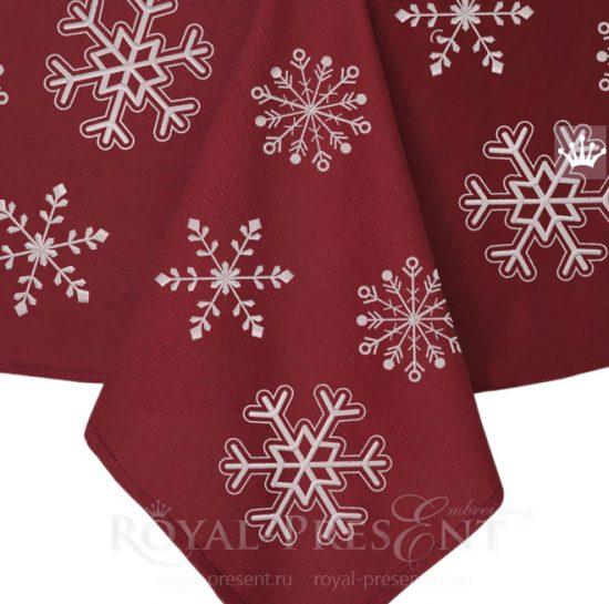 Дизайны для машинной вышивки бесплатно Снежинки