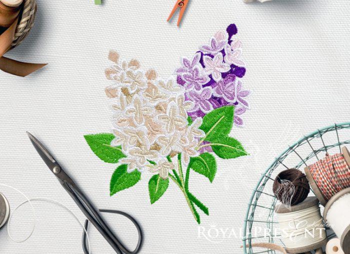 Дизайн Машинной Вышивки Букет Сирени