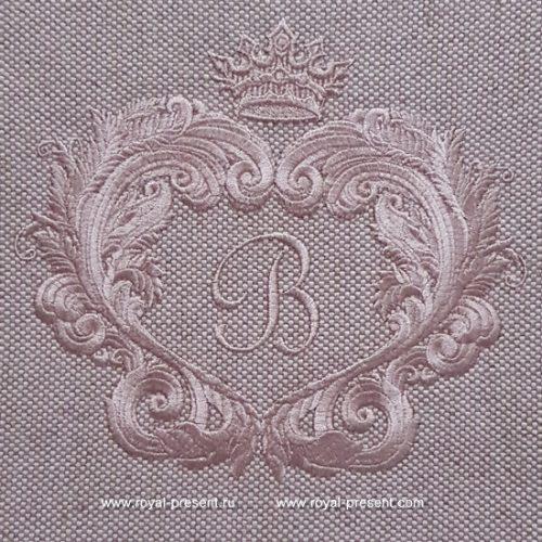 Дизайн машинной вышивки Барокко рамка для монограммы