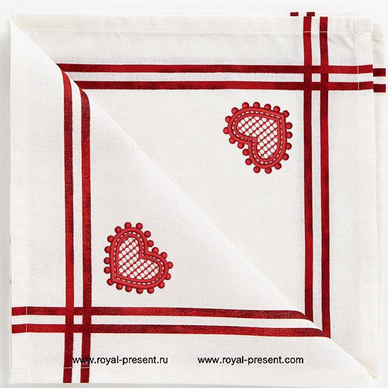 Дизайн для машинной вышивки бесплатно Ажурное сердечко