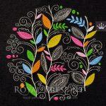 Дизайн машинной вышивки Орнамент из листьев