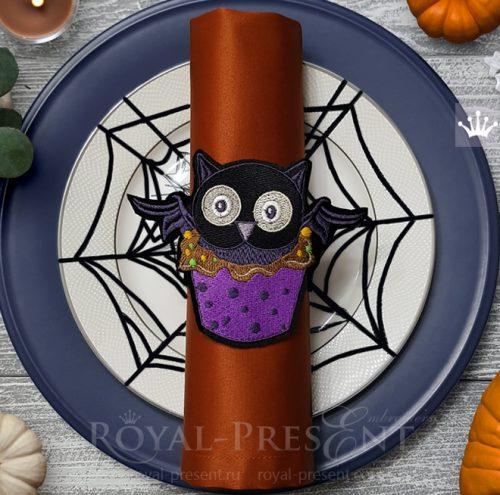 Дизайны машинной вышивки Кексы Хэллоуин