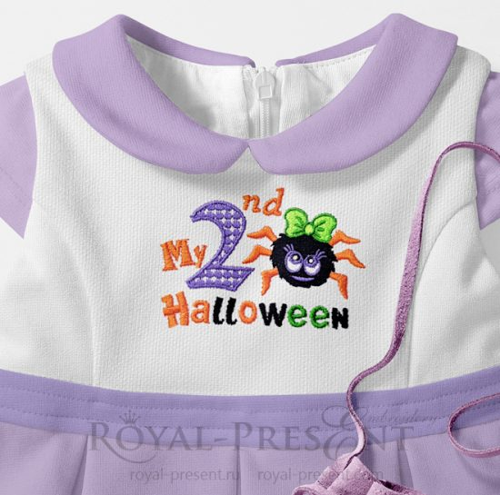 Дизайн машинной вышивки Мой второй Хэллоуин для девочек