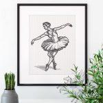 Балерина дизайн машинной вышивки