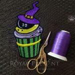 Дизайн машинной вышивки Кекс на Хэллоуин