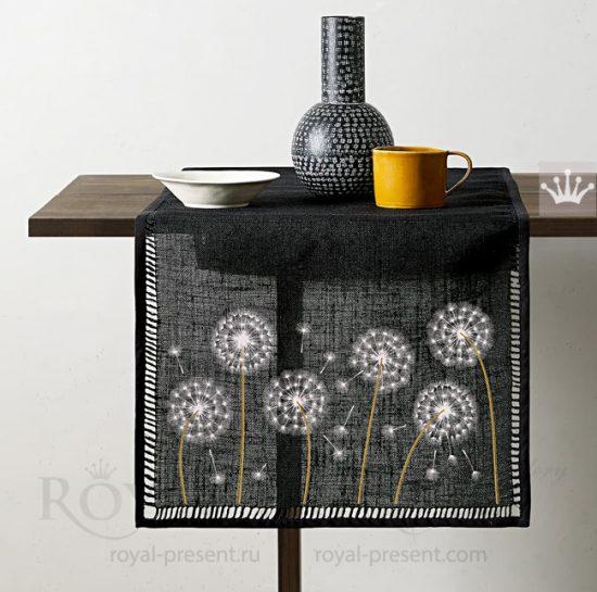 Дизайны машинной вышивки Одуванчики