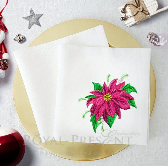 Бесплатный Дизайн машинной вышивки Пуансетия