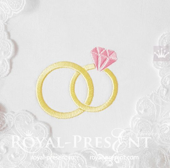 Обручальные кольца Дизайн машинной вышивки