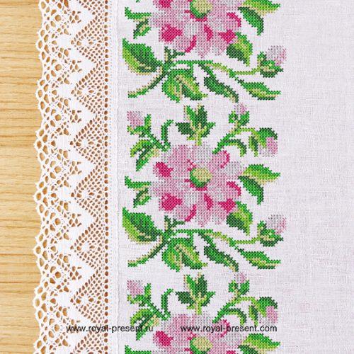 Дизайн машинной вышивки крестом Букетик цветов