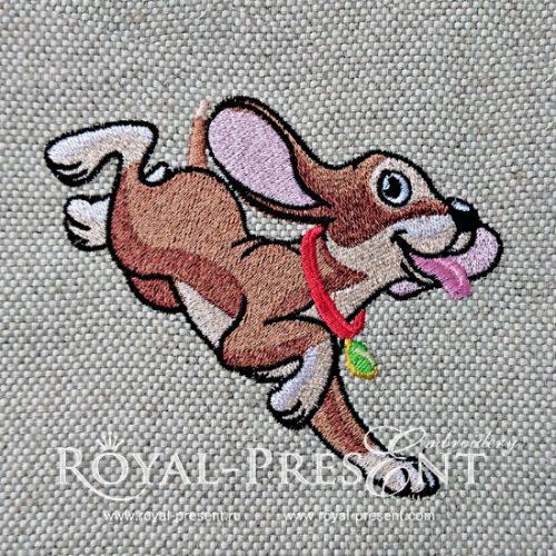 Дизайн машинной вышивки Веселый Щенок