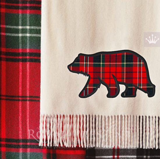 Аппликация для машинной вышивки Дикий Медведь