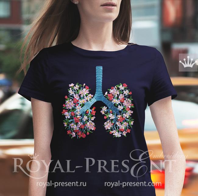 Дизайн машинной вышивки Цветущие Легкие